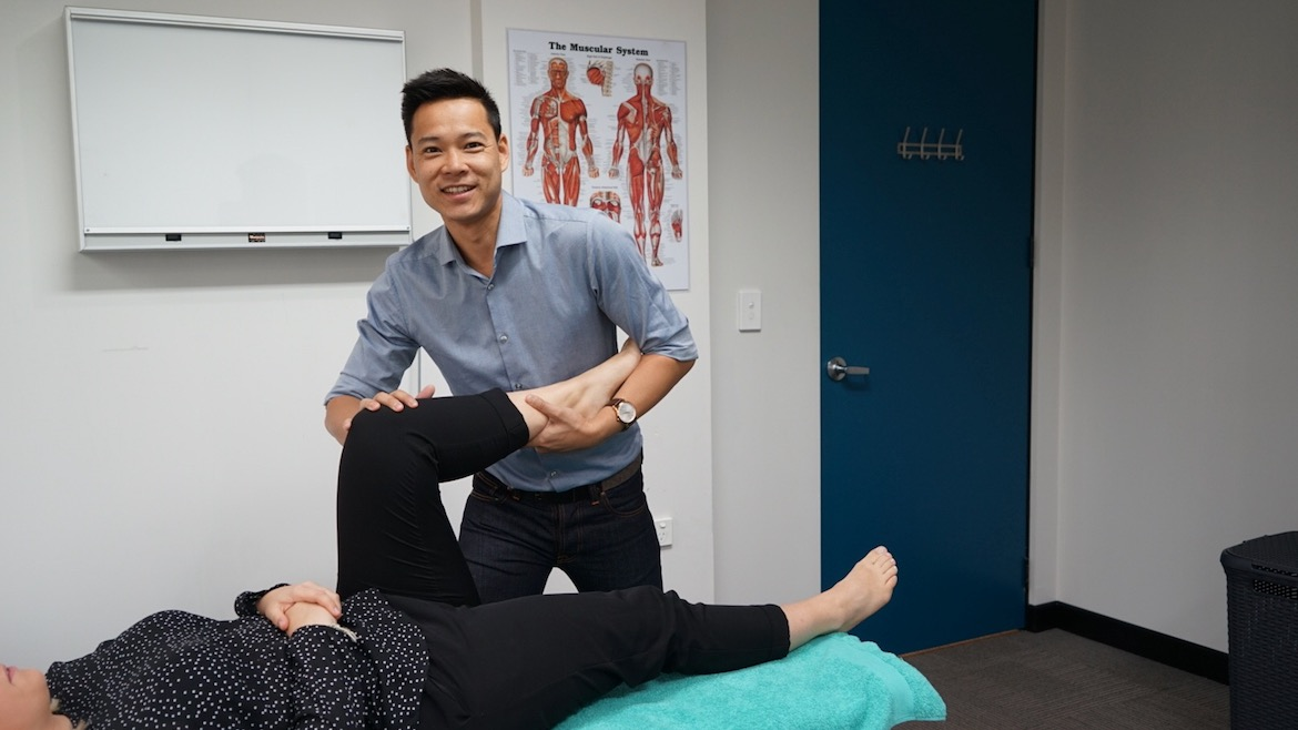 Osteopath Dr Marcus Ng is in the Sydney CBD