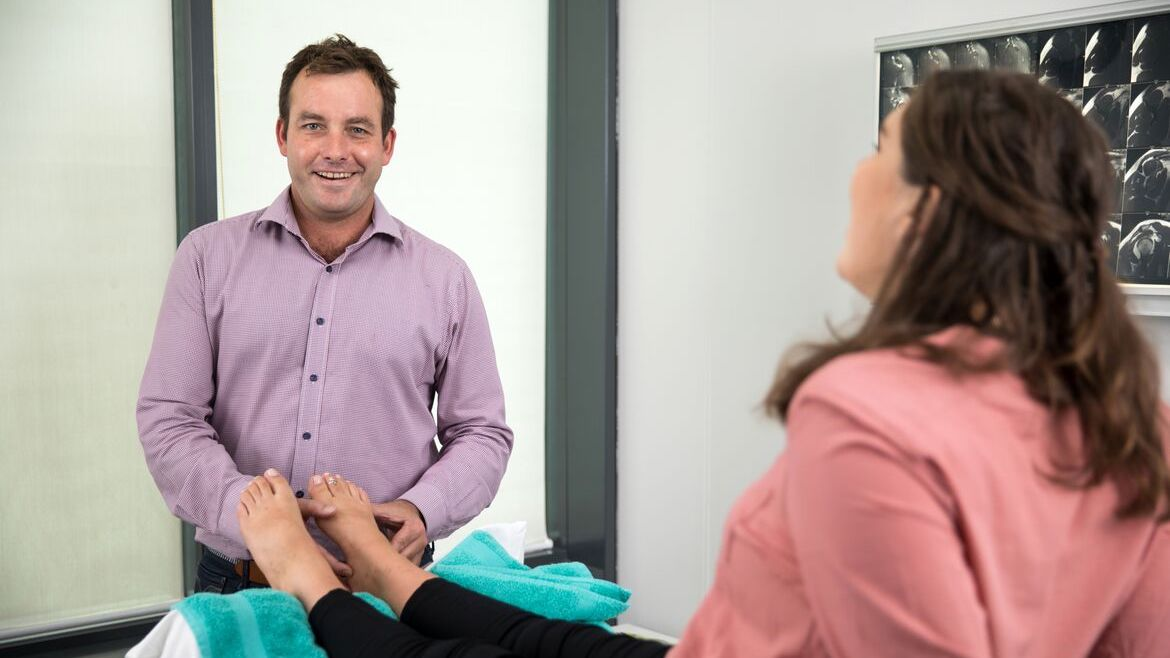 Podiatrist Sam Towers in Sydney CBD