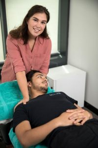 Sydney CBD Osteopath Dr Abbey Davidson treating neck pain