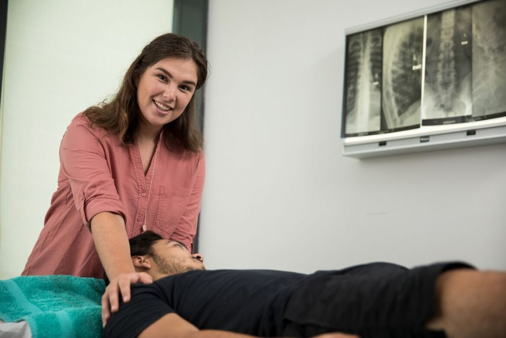 Sydney CBD Osteopath Dr Abbey Davidson treating TOS