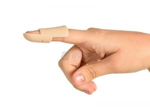 Stax finger splint for mallet finger