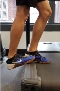 Ankle range of motion assessment and achilles tendon stretch