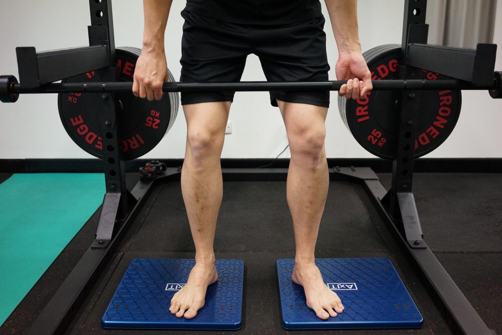 Axit force plate assessment for deadlift movement