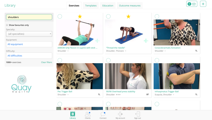 PhysiApp used to health telehealth appointments to prescirbe exercise