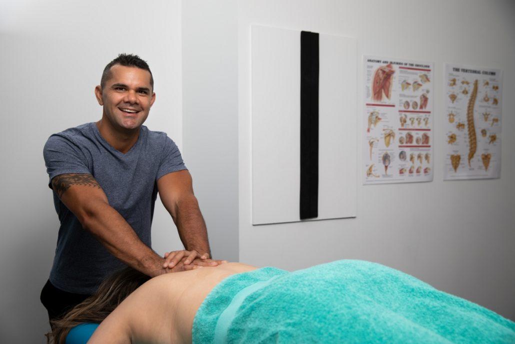 Remedial Massage Wynyard Clint Stowers back massage